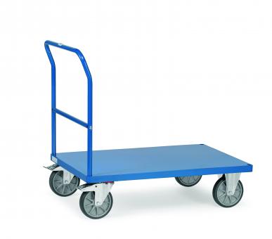 Chariot à dossier de poussée  Charge 500 kg - Avec plateau