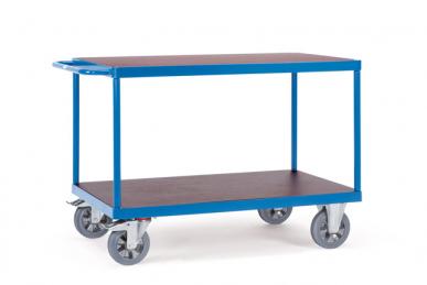 Chariot à plateaux  Bleu - Charge 1200 kg - 2 plateaux