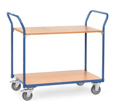 Chariot à plateaux  Charge 200 kg - 1 plateau amovible
