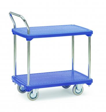 Chariot à plateaux  Plastiques - 2 plateaux