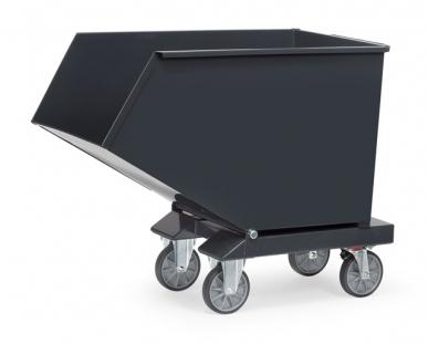 Chariot benne basculante  Gris - Jusqu'à 800L