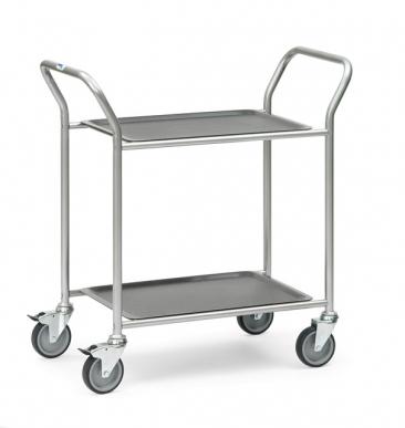 Chariot de service 2 plateaux amovibles