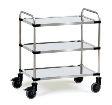 Chariot Inox  150 kg - 3 plateaux