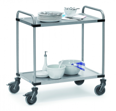 Chariot Inox  Charge 120 kg - 2 plateaux