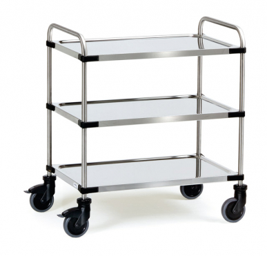 Chariot Inox  Charge 150 kg - 3 plateaux