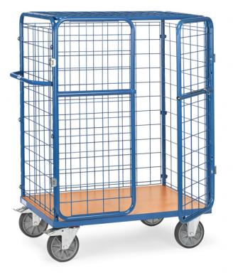 Chariot pour colis  à portes battantes - Charge 600 kg