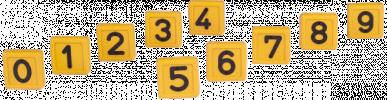 Chiffre jaune n° 0