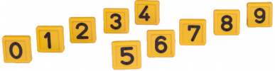 Chiffre jaune n° 2