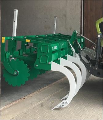 Chisel FL 4000 (7 dents) : technologie innovante, complet avec suspension à trois points, supports de fixation et bras supérieur mécanique