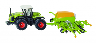 Tracteur Claas Xerion avec Semoir Siku 1:87