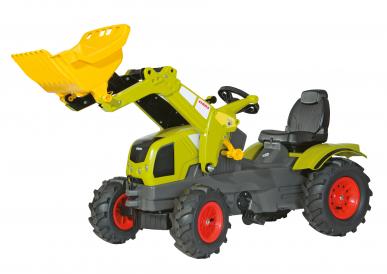 Tracteur Claas Axos 340 avec chargeur + pneus souples ROLLY TOYS