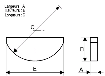 Clavette Disque  3.97 X 7.91 X 19.05