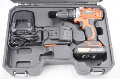 Coffret perceuse - visseuse sans fil 18 V 1,3 Ah + 2 batteries + accessoires