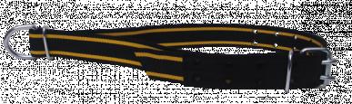 Collier d'attache seul taureau nylon doublé cuir boucle double 170x7cm