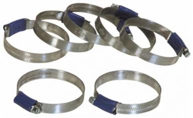 Collier de serrage à vis sans fin 12 mm ABA 130 à 150 mm (par 5)