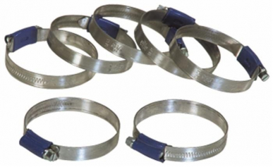 Collier de serrage à vis sans fin 12 mm ABA 68 à 85 mm (par 5)