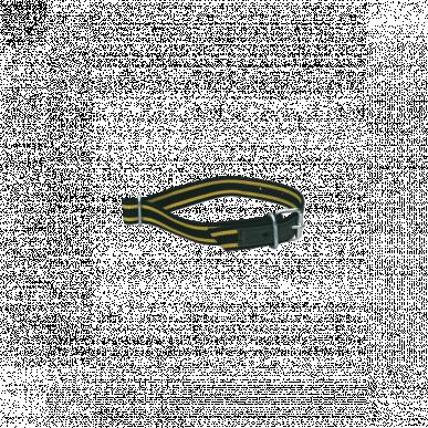 Collier seul doublé cuir noir/jaune pour veau réf 30304