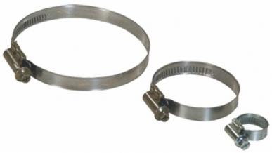 Colliers de serrage à vis sans fin Mikalor 70 à 90 mm (boite de 10)