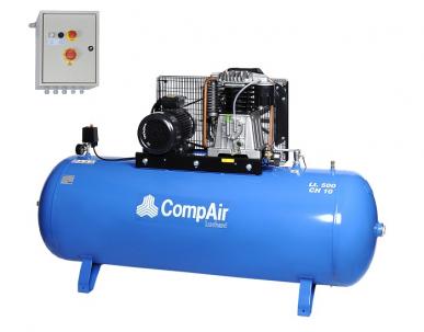 Compresseur à piston lubrifié, réservoir fixe