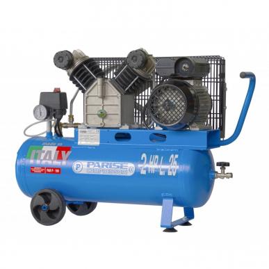 Compresseur à bande portable à double cylindre - 25 litres, 2 hp, 8 bars, MOD. P 25 SCmX