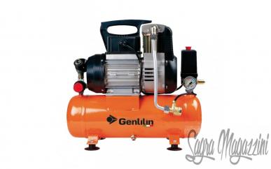 Compresseur Sec Gentilin Silencieux 0,75Kw 1Hp Réservoir 5 LT Bruit 72Db