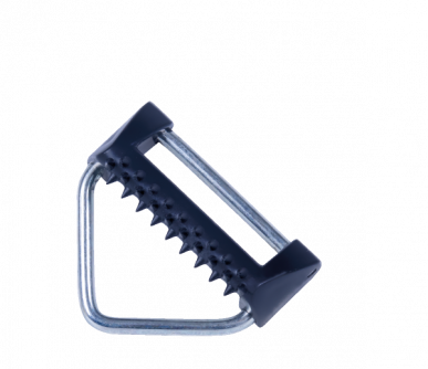 Connexion pour poignée de porte pour ruban jusqu'à 40mm, en fer zingué