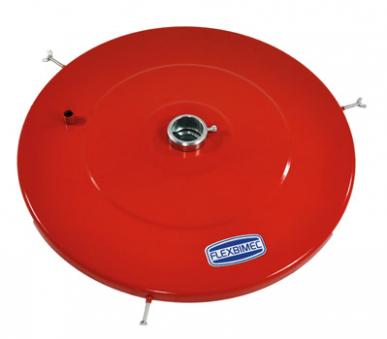 """Couvercle de fût avec bague de fixation pompe à graisse """" POWER BULL """" mod. 4048 - 4049 - 4050 Ø 600 mm, pour des fûts de 180 kg"""