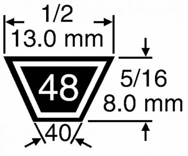 Kevlar-Gurt 4L880 anpassbar NOMA 39454 - 13mm x 8 mm für freistehende