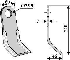 Couteau de broyage - SEK 02