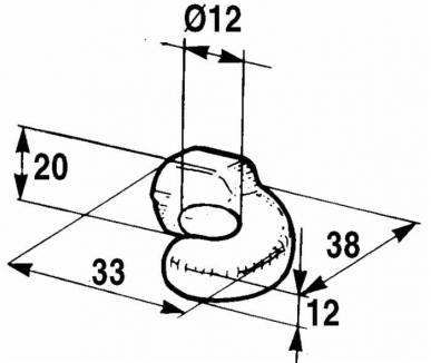 Crochet rond pour fermeture réglable