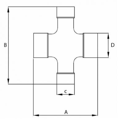 Croisillon 75X27-91X24 pour cardan homocinétique catégorie 4