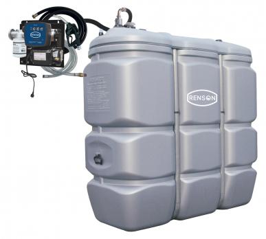 Cuve Gasoil/GNR fixe PEHD 1000L - Pompe 230V-50L/min