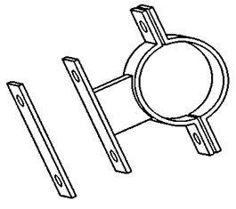Demi collier pour tuyau 3'' (la paire)