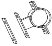 """4"""" Rohrhalbschellen (Paar)"""