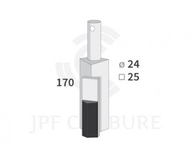 Dent de rotor pour Rau  25x25/24
