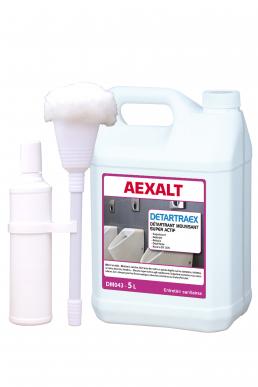Détartrant sanitaires surpuissant DETARTRAEX Bidon 5 L - Avec vadrouille et robinet