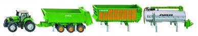 Tracteur DEUTZ avec 3 remorques Joskin Siku 1:87