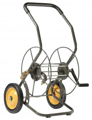 Dévidoir  2 roues 55 M Métallique - capacité 55 m diam 15 mm - 5/8''