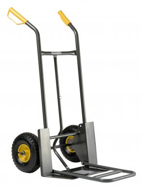 Diable 924 G Pelle fixe 187 x 510 mm - Nouvelle pelle rabattable 420 x 326 mm - Roues gonflées Nouveau : avec protections de roues