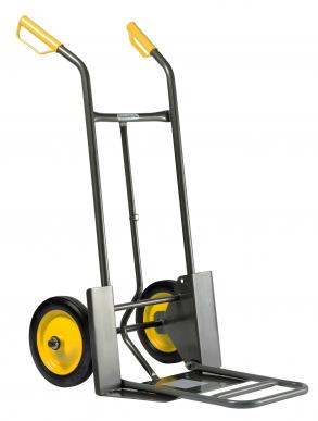 Diable 924 P Pelle fixe 187 x 510 mm - nouvelle pelle rabattable 420 x 326 mm - Roues pleines  Nouveau : avec protections de roues