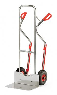 Diable  Aluminium - Charge 200kg - Bavette large - Patins amovibles