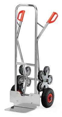 Diable escalier  Aluminium - Charge 200kg - 5 roues étoile