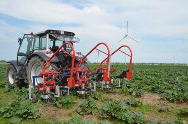Dispositif de binage hydraulique - lutte contre les mauvaises herbes (1 rang) - ZUZA 3
