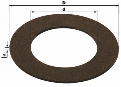 Disque de friction adaptable BY-PY - Ferrodo 140X85.5X3.5 pour limiteurs