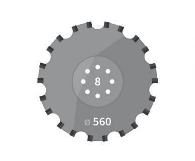 Disque pour Agrisem TCS DIS 503 Disco Mulch 8 trous D,560mm