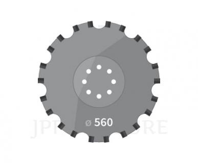 Disque pour Agrisem TCS DIS 537  Disco Mulch 8 trous D,610mm