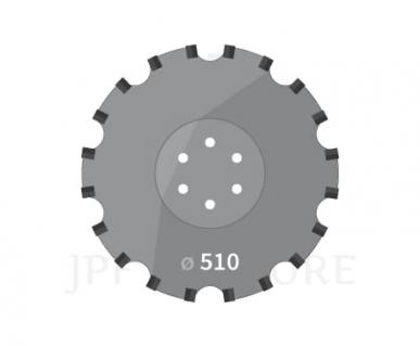 Disque pour Kuhn H2234350 Cultimer D,510mm