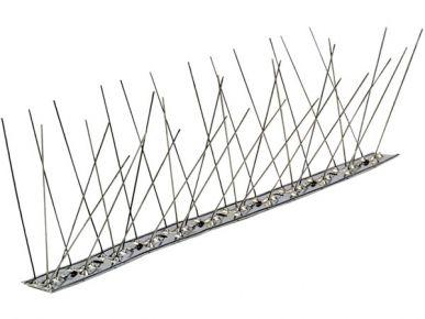 Borne en acier inoxydable pour pigeons - socle flexible 80 pointes par mètre 25 lattes de 1 mètre