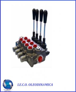 Distributeur hydraulique fendeuse 4 double effet 3/8 45 Litres