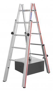 Echelle double pour escaliers